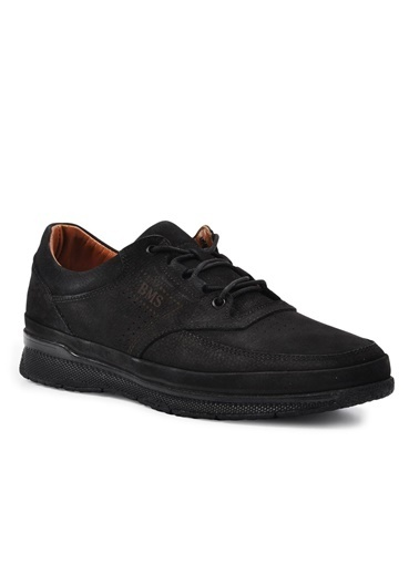 Ayakmod 706 Siyah-Nubuk Hakiki Deri Erkek Günlük Ayakkabı Siyah